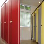 လွပေသသပ္ေသာအိမ္သာသံုးတံခါးရြက္မ်ား(Tiolet Cubicles & Locker)