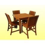 ေသသပ္ လွပေသာ ကြ်န္းျဖင့္ ျပဳလုပ္ထားသည့္ ကြ်န္း ကုလားထိုင္နွင့္ ေကာ္ဖီ စားပြဲ ( Teak Chair & Coffee Table )