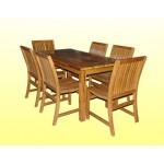 ၾကာရွည္အသံုးခံပီး လွပသည့္ ကြ်န္း ကုလားထိုင္ နွင့္ ေလးေထာင့္ စားပြဲ ( Teak Chair & Rectangular Table )