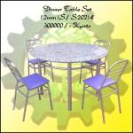ခိုင္ခံ့ သပ္ရပ္ လွပၿပီး အသံုးျပဳ ရလြယ္ ကူသည့္ ထမင္းစားပြဲ ခံု ( Dinner Table Set )