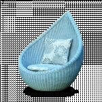 လွပေသာတေယာက္ထိုင္စာဖတ္ခံု ( Rain Drop Chair )