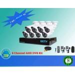 Hikvision 8 CCTV Cameras (Night Vision) & 8Channel DVR Standalone Kit