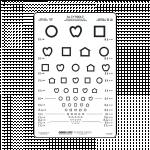 Distance Vision Chart, Symbol Chart