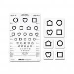 Distance Vision Chart, LEA Symbols 13-Line Translucent