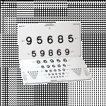 LEA Numbers 15-Line Distance Chart