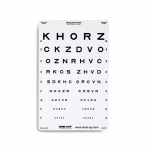 Distance Vision Chart, Sloan Letter Linear-Spaced Distance Chart