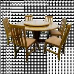 Round Table & Sofa Chair ROT-150-DL,CN-6 ထမင္းစားပြဲဝိုင္းနွင့္ ဆိုဖာထိုင္ခံု