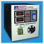 5 KVA AUTO & MANUAL VOLTAGE REGULATOR (DIGITAL)