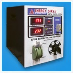 3 KVA AUTO & MANUAL VOLTAGE REGULATOR (DIGITAL)